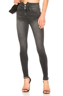 Black Orchid Karlie Button Front Skinny