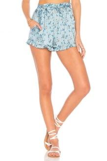 For Love & Lemons Spring Bloom Ruffle Shorts