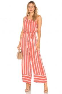 Band of Gypsies Stripe Cross Back Jumpsuit