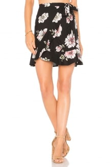 Band of Gypsies Hibiscus Mini Skirt