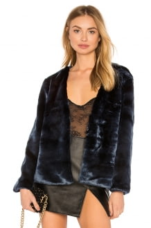 Lioness Too Damn Famous Faux Fur Coat