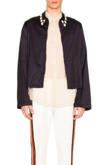 Wales Bonner Zip Up Embroidered Jacket