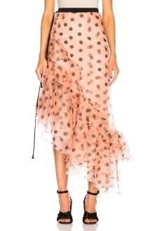 Johanna Ortiz Walking Palm Silk Organza Skirt