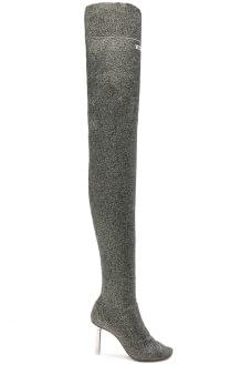 Vetements Lurex Thigh High Sock Boots
