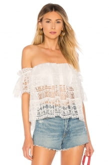 TULAROSA Amelia Crop Top