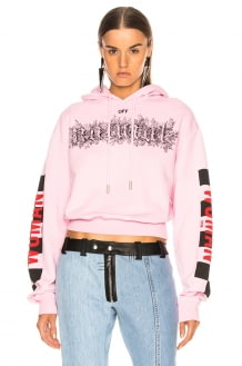 Off-White Taxi Cropped Hoodie