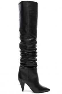 Saint Laurent Era Leather Thigh High Boots