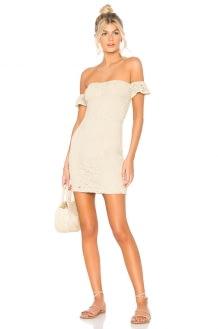 Nightcap Crochet Flutter Dress