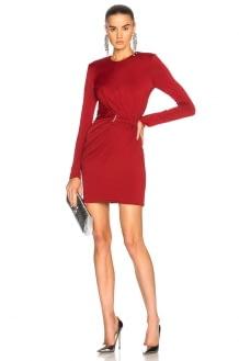 Mugler Fluid Jersey Long Sleeve Mini Dress