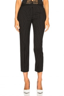 Alexander McQueen Pinstripe Cigarette Trousers