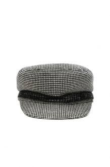 Maison Michel New Abby Wool Cashmere Dogtooth Hat