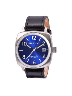 BRISTON Briston Clubmaster Classic Steel HMS Blue Sunray Dial 40mm