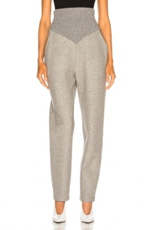 Sally Lapointe Cotton Jersey Corseted Sweatpant