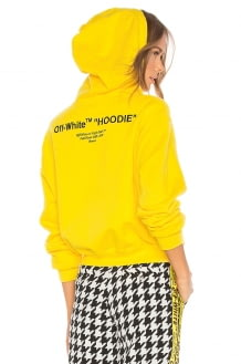 Off-White Quotes Cropped Hoodie
