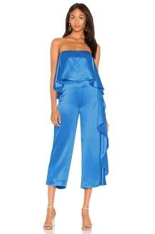 Mestiza New York Jacqueline Cropped Ruffle Jumpsuit