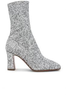 AMINA MUADDI Glitter Stretch Sabrina Ankle Boots