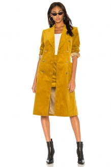 Bella Freud Corduroy Trench Coat