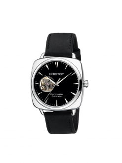 BRISTON Briston Clubmaster Iconic Steel Automatic HMS Date Black Dial Opening 40mm