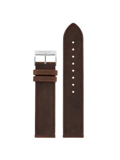 BRISTON Briston 2-Part Vintage Leather Strap Chocolate Polished Steel 20mm