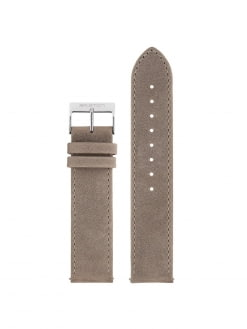 BRISTON Briston 2-Part Vintage Leather Strap Taupe Polished Steel 20mm