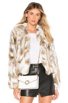Adrienne Landau Textured Rabbit Jacket