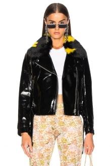 Shrimps Faux Fur & Leather Alby Jacket