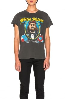Madeworn Willie Nelson On The Road Again Crew Tee