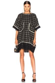 Faith Connexion Embellished Tweed Dress