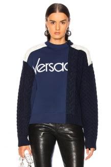 Versace Logo Colorblock Sweater