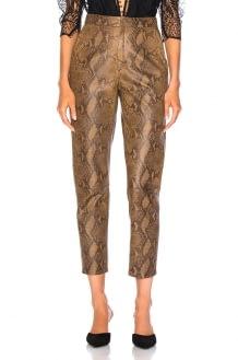 Zeynep Arcay for FWRD High Waist Skin Print Leather Pants