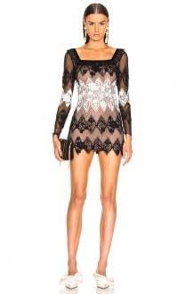 Sandra Mansour Perle Noire Mini Dress
