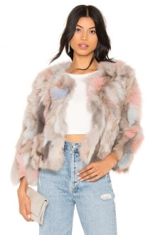 Jocelyn Fox Fur Jacket