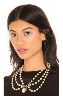 Marc Jacobs Bow Pearl Statement Collar