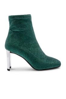 Lola Cruz Metallic Sock Bootie