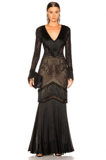 Zuhair Murad Fringed Knit Gown