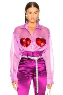 Ashish Classic Sequin Heart Shirt