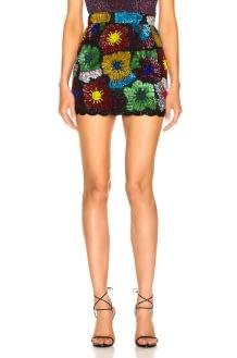 Ashish Psychedahlia Beaded Mini Skirt
