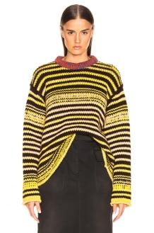 CALVIN KLEIN 205W39NYC Striped Wool Crewneck Sweater