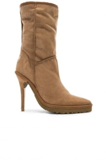 Y PROJECT Sheepskin Ugg Ankle Boot