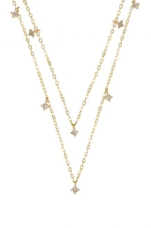 ERTH Double Shimmering Star Necklace