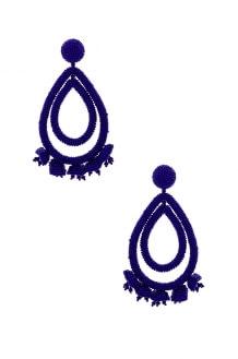 Sachin & Babi Grape Halo Earrings