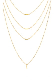 Luv Aj Ombre Bar Multi Charm Necklace