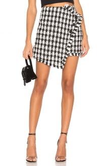J.O.A. Tweed Mini Skirt