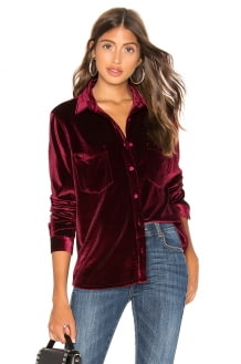 Dr. Denim Sacha Velvet Shirt