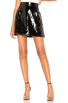 Dr. Denim Lolo Faux Leather Skirt