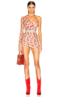 Aadnevik French Lace One Shoulder Mini Dress