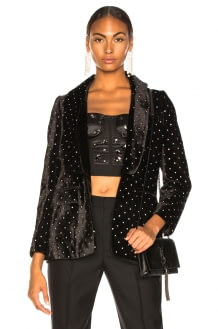 Self Portrait Velvet Diamante Jacket
