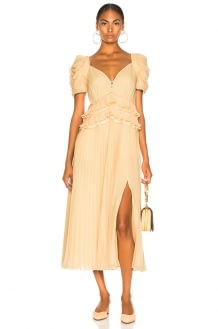Self Portrait Chiffon Midi Dress