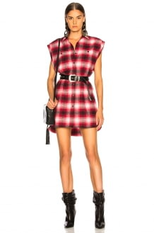 Adaptation Sleeveless Shirt Dress