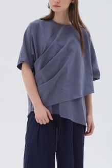 Shopatvelvet Savoy Top Blue Gray
